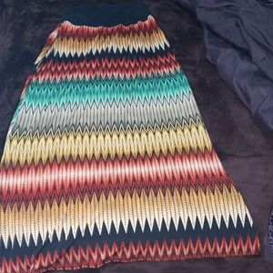 🌈 multicolored maxi skirt 🌈